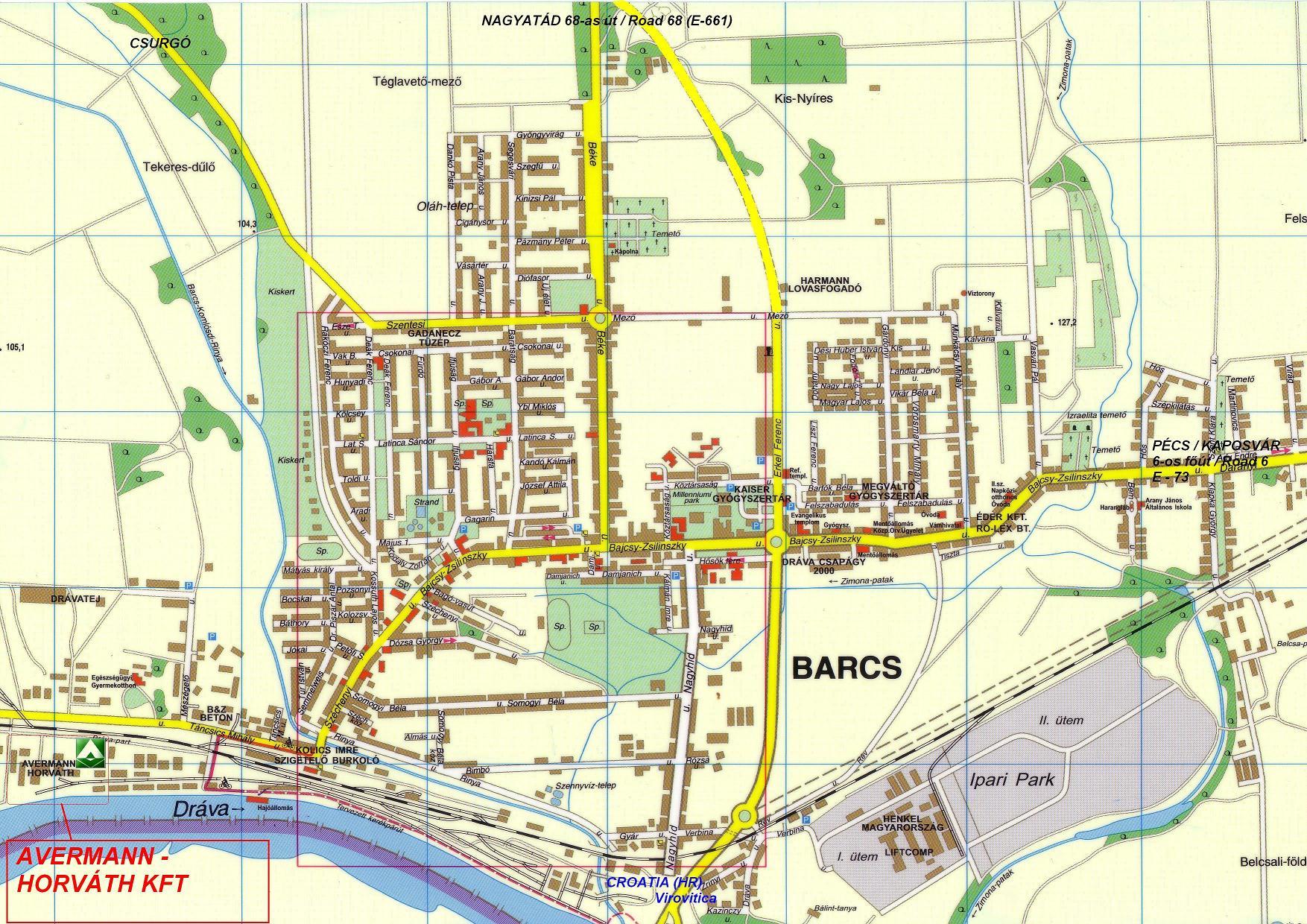 barcs térkép Elérhetõségeink barcs térkép